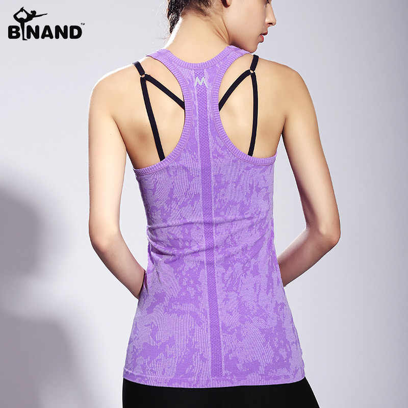Sleeveless Breathable Quick Dry Women Tank Top Outdoor Sports Fitness Running Slim Medium-long Nylon & Spandex Yoga Shirt Vest