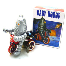 Classic Robot Tin Wind Up Clockwork Toys Electric Baby Robot Wind-up Tin Toy For Children Adults Educational Collection Gift