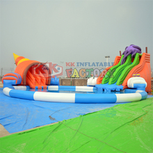 Land mobile portable leisure water park customization Conch inflatable slide water park