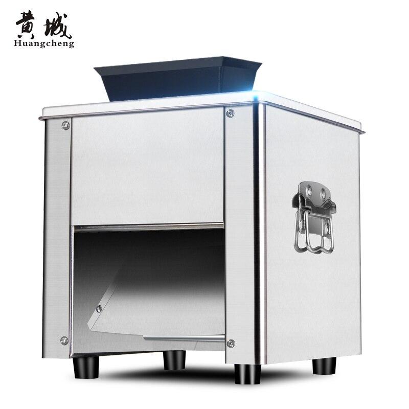 Электрический мясо Шлифовальные станки коммерческих Нержавеющаясталь Slicer растрепанные полностью автоматическая дома разминание кубиками мясорубки машина