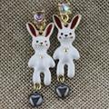 XQ Frete grátis 2015 O novo branco coelho brincos BJ Presentes para as meninas O novo banquete popular textura