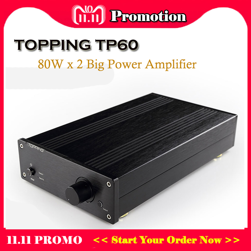 Topping TP60 Class T Power Amplifier Audio TA2002 Hi fi Amplifiers Portable Sound Amplifier Mini Amp Professional Amplificador topping nx3 portable earphone hifi stereo audio amplifier amp tpa6120a2 opa2134