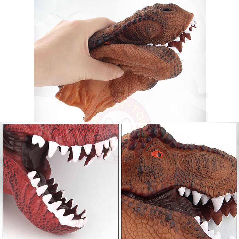 หุ่นนิ้วมือไดโนเสาร์ของเล่นมือตุ๊กตา Dino หุ่นมือแสดงโรงละครหุ่นกระบอก SHARK การศึกษาเด็กเรื่องราวเด็กของขวัญ