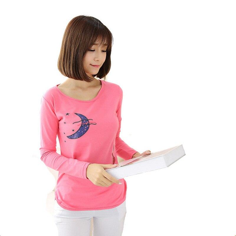 t shirt women 2017 plus size tops women t-shirt long sleeve tee shirt femme cropped
