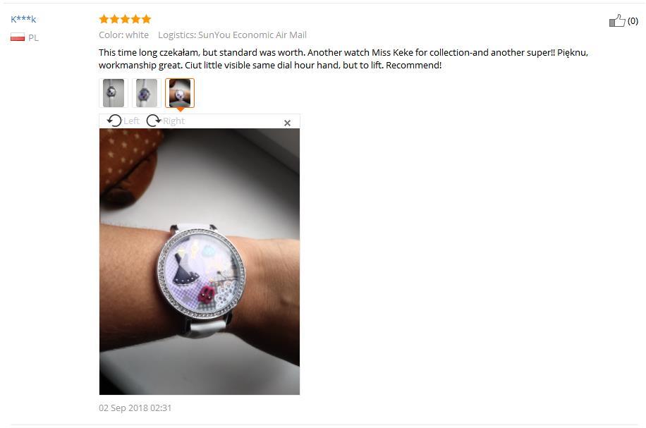 MISS KEKE klei schattige 3D mini wereld meisjesjurk Strass horloges - Herenhorloges - Foto 6
