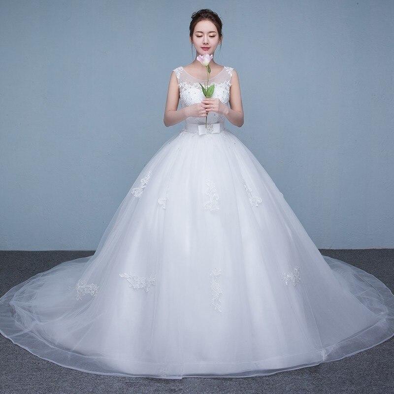 Vestido de novia 2017 de Lujo de Novia Tren Grande Atractivo Dulce de La Vendimia Diseño