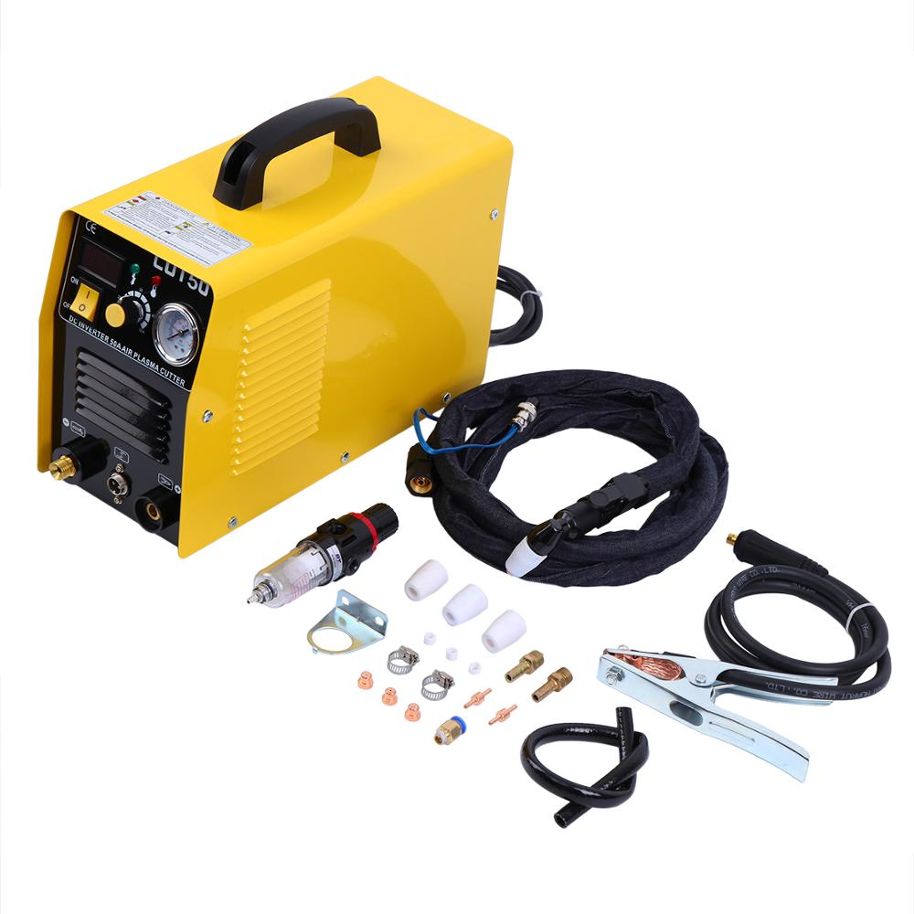 Portable Electric Digital Plasma Cutter 50AMP Digital Inverter Cutting 1 12MM with free accessories