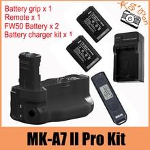 Meike MK-A7II Pro Wireless Ctrl Battery Grip for Sony A7 II A7R II  A7S II  as VG-C2EM 2 x NP-FW50 Batteries Charger Kit
