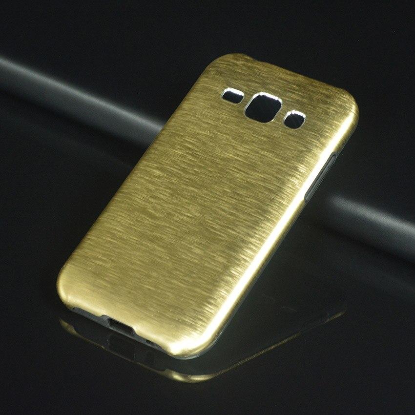Luxury Armor Case For Samsung Galaxy J1 2015 J 1 J100 J100FN J100H SM-J100FN SM-J100H 4.3 Phone Case Shockproof Metal Cover Gold