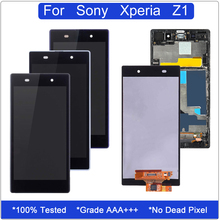 5.0'' LCD Replacement for Sony Xperia Z1 L39h C6902 C6903 C6906 C6943 Touch Screen Digitizer Assembly for Sony Xperia Z1 Display new lcd display touch screen digitizer with frame assembly for sony xperia z1 l39h c6902 c6903 screen 100% guarantee
