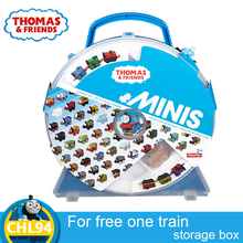 Original Thomas and Friends storage Hold 14 Train box model car Toys Educational Truck Best Boy Juguetes Gift  CHL94