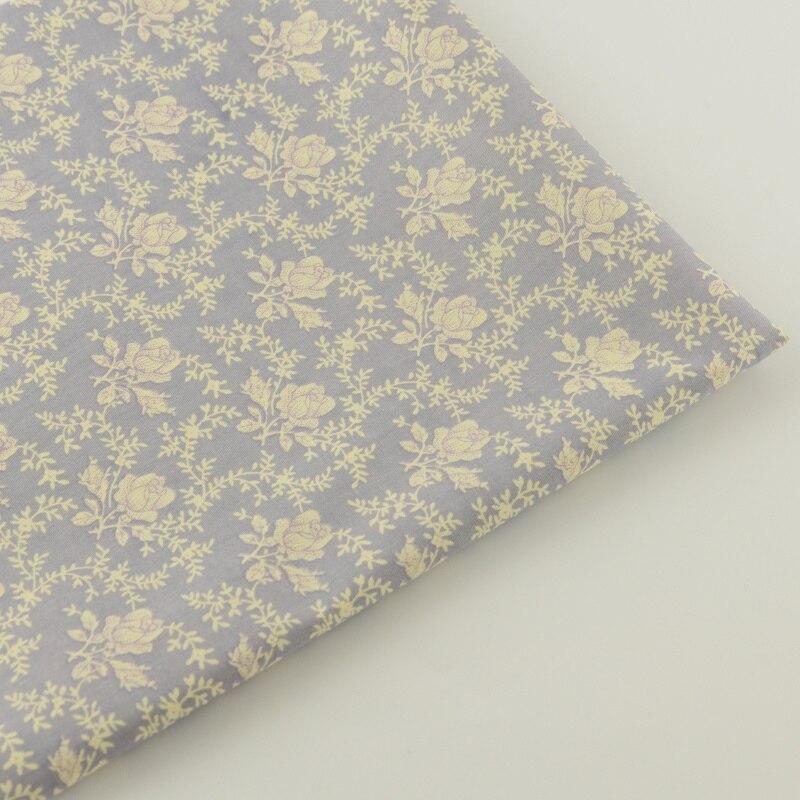 Noticias 100% Tela De Sarga De Algodón Gris Impreso Floral Diseños Acolchar Patc