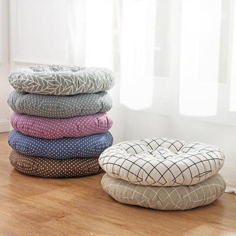 Simple épaissir les coussins de chaise rond Coussin de siège de voiture Tatami tapis de sol almofada decorativa Coussin oreillers décoratifs pour la maison
