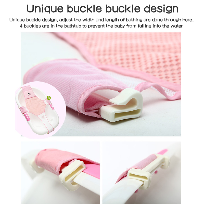 Baby Bath NetTub Foldable Baby Shower Seat Net Bathtub Infant Fun Sunflower Cush
