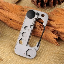 420 Stainless Steel Self Defense Tool Multifunctional Angle Wrench / Screwdriver Opener Survival Kit Camping EDC Gear