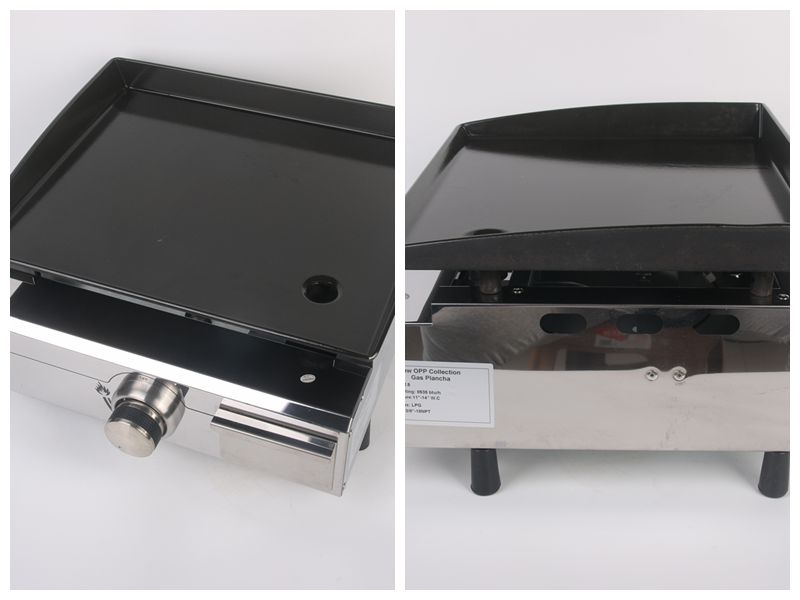LPG 1 Burners Warehouse Plancha BBQ Grill Gas Griddle Outdoor Machine Steak Vegetable Cooking Plate churrasqueira