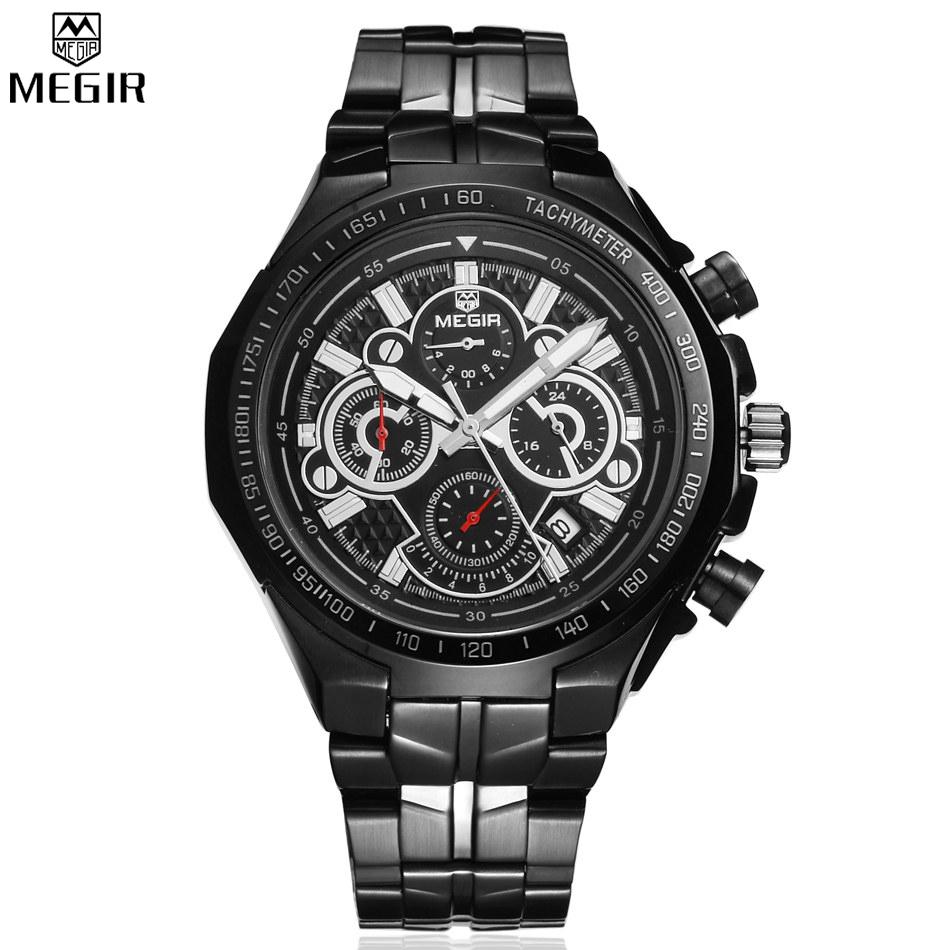 Prix pour Megir marque quartz montres hommes étanche montre multifonction hommes de top marque militaire chronographe montre relogio/ml5001