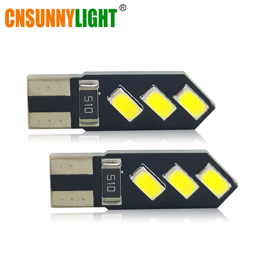 CNSUNNYLIGHT T10 W5W LED Car Interior Light 5730 SMD Marker Lamp 12V 194 Auto Wedge Parking Dome Bulb White for Lada Car Styling 10pcs led car interior bulb canbus error free t10 white 5730 8smd led 12v car side wedge light white lamp auto bulb car styling