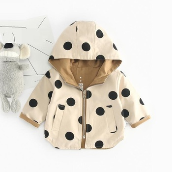 Spring Autumn Baby Hooded Trench Coat for Girls