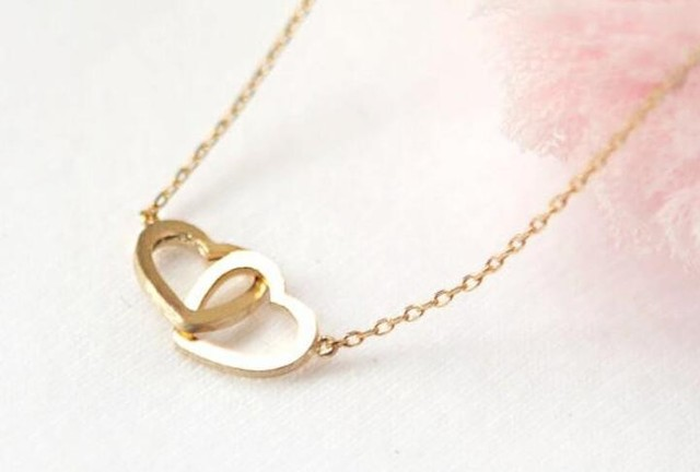 c51cf5e8c456e US $5.19 |1pcs hot sale New Fashion cute double heart shape Romantic  Pendants Necklaces simple Pendants Necklaces Jewelry for Women Gift-in  Pendant ...