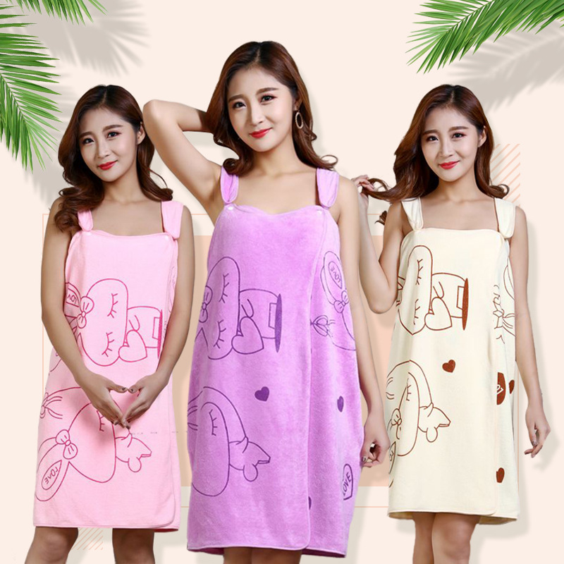 Microfiber Soft Bath Towel Lady Girl Women Sexy Wearable Quick Dry Magic Bathing Beach Spa Bathrobes Wash Clothing Beach Dresses