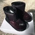 CCTWINS KIDS invierno brillo de la manera zapatos de bebé muchachas de la marca caliente botas de nieve niños botas childre de la pu botas de cuero de piel de los niños botas