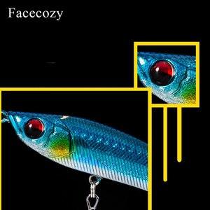 Image 4 - Facecozy Fishing Lures Luminous Minnow Artificial Bait 1Pc 6.5/8/9CM Multi color Transparent Swimbait Suitable for Trolling