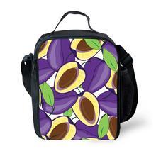 Бренд свежие дети плечо сумки обед green apple фрукты 3d печати коробка обеда тепловой изоляцией девушки мешка школы малышей подарок