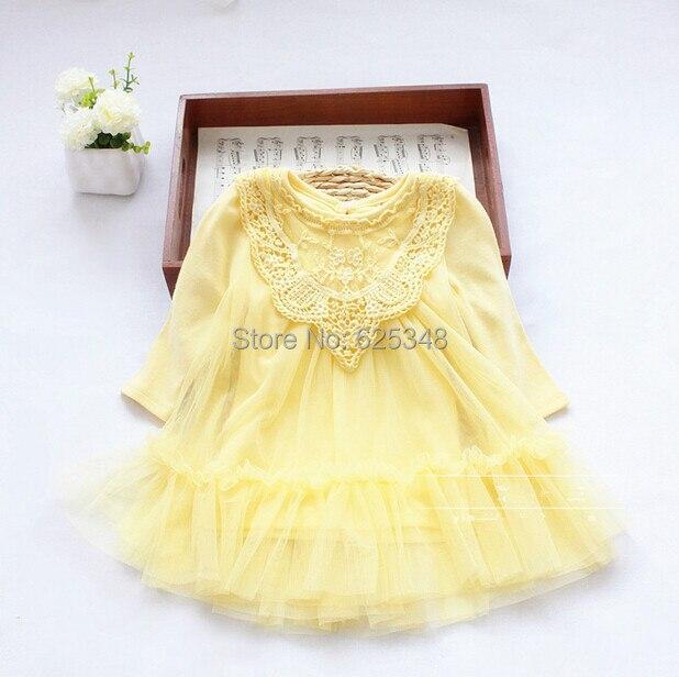 Retail-2017 Chiffon Lace Princess Infant Baby Dress Toddler Cute Newborn Baby Girls Dress New Fashion Baby Clothing