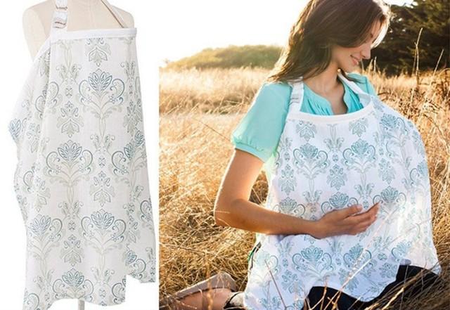 Vestido de maternidad Enfermagem Cubierta Cubierta De Enfermería La Lactancia Infantil Bebé Muselina de Algodón Transpirable Enfermería Paño Paño de Mamar