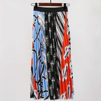 2019 New Cartoon Pleated Super Hot Korean Style Colorful Stripe Women 3d Print Fashion High Street Korean Skirt Kawaii
