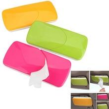 Tissue Box Universal Creative Car Sun Visor Plastic Tissue Box Slide Cover Paper Napkin Holder Clip Red, Green, Orange