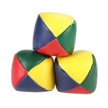 3 pçs bolas de malabarismo esporte conjunto clássico kidsshopping saco jogo bola malabarismo circo mágico iniciante crianças bolas de praia ao ar livre indoor brinquedo