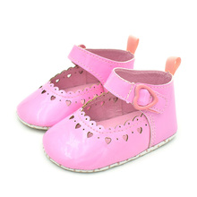 Newborn Baby Shoes Fashion Infant Girl Solid Color Love First Walker Child Soft Bottom