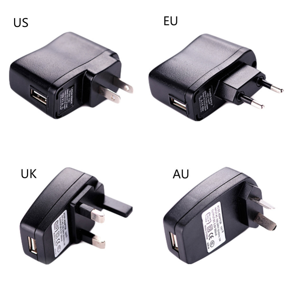 EU, US, AU, UK Plug Universal USB Adapter Wall Charger for Iphone 5 5s 6 6s for Samsung Portable Home Travel Charger for Phone