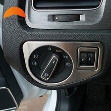 Для Volkswagen VW Гольф 7 2014 2015 Нержавеющая сталь Авто Inerior аксессуары кнопка включения отделкой внутренняя стайлинга автомобилей украшения