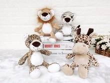 1pcs  30cm Cute Stuffed Doll NICI Jungle Brother Tiger Lion Leopard Giraffe Plush Animals Toy Xmas  Gifts HOME Decoration
