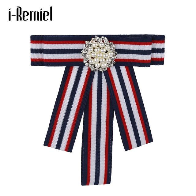 Я-Remiel галстук Брошь Ткань Pearl и броши Harajuku подарки для гостей музыкальные подарки блузка корсаж броши с лацканами для девочек Для мужчин