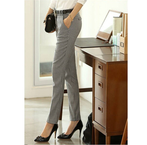 Image 5 - 2020 Spring Summer Autumn Women Slim Casual Pants Work Wear Career Houndstooth Pants Straight Pencil Pants Women trousers female