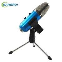 Hangrui USB Condenser Microphone With Tripod For Video Recording Karaoke Radio Studio Microphone For Computer Desktop