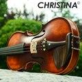 Новые Кристина Скрипки ручной работы V02 Античная клен Скрипки 3/4 музыкальный инструмент со скрипкой случае Скрипки лук и канифоли
