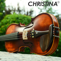 NEW Christina Violin Handmade V02 Antique Maple violin 3/4 musical instrument with fiddle case violin bow and rosin