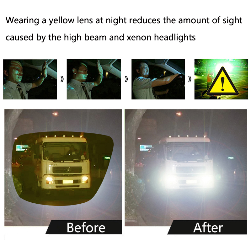 Image 2 - Car Night Vision Goggles Polarized Sunglasses Vision For Lada Granta Vaz Kalina Priora Niva Samara 2 2110 Largus 2109 2107-in Car Stickers from Automobiles & Motorcycles