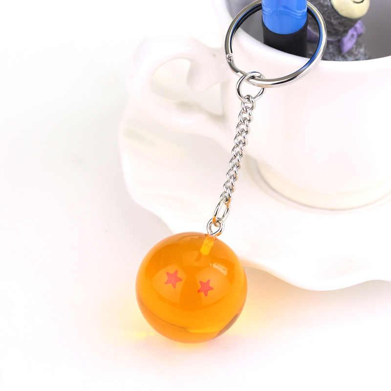 7 estilos 2.5cm dragonball z conjunto de cristal chaveiro lote son goku vegeta frieza chaveiro chaveiro figura ação brinquedo crianças presente