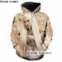 PLstar Cosmos 2017 Autumn Winter New Design Fashion 3d Hoodies Hot TV Drama Game Of Thrones