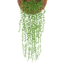 1pc Artificial Flowers Rattan Fake Leaves Wall Hanging Home Garden Decor Green Willow Vine Plants