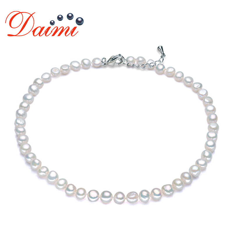 DMNFP298 8-9mm Pearl Necklace  Baroque Pearl Jewelry Freshwater Pearl Choker Necklace Women