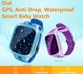 Водонепроницаемый GPS IP67 Smart Watch для Детей поддержка Sim-карты анти-потерянный SOS Монитор Ребенок Подарок Большой Экран Smartwatch Телефон PK Q90