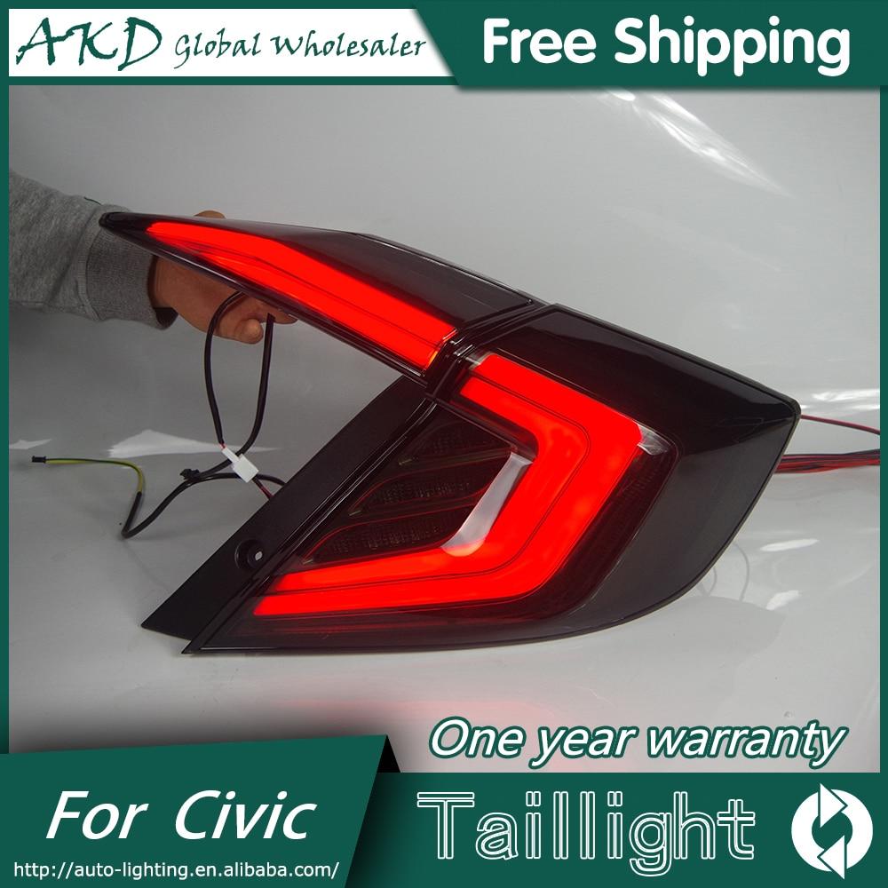 AKD Car Styling for HONDA CIVIC X 10th TAIL Lights LED Tail Light LED Rear Lamp Dynamic running light Dynamic Signal Turn light