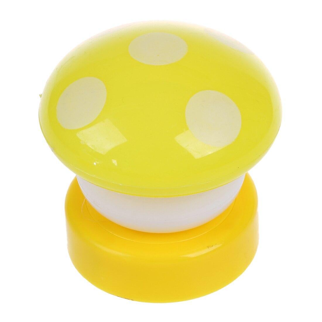 2 PCS Colourful Mushroom Push/Touch LED Childrens Bedroom Night Light Desk Lamp - Yellow